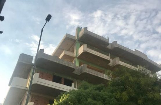 Apartment building under construction in Athens center